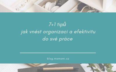 7 + 1 tipů jak vnést organizaci a efektivitu do své práce