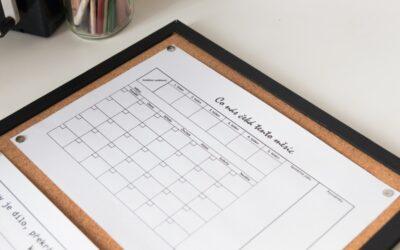 Jak na plánování a organizaci dní v novém školním roce
